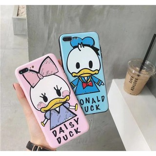 Cute Donald Daisy Duck Silicon Cover for iPhone X XS Max XR 6 Plus 6 6S Plus 7 7Plus 8 8Plus