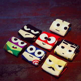 Cute Fashion Super Hero Cartoon Man Sock Ankle Cotton Socks  Socks Unisex For Men Women