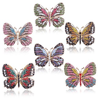 Explosion models high quality color diamond multicolored butterfly brooch fashion accessories