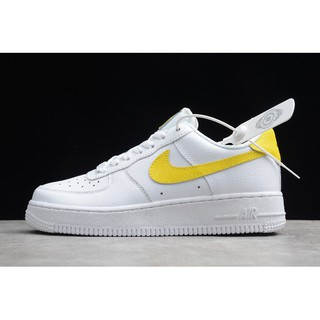 Nike Air Force 1 '07 LV8 Para Mujer White/Yellow Women's Size JD1070-48