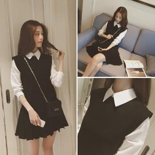 2020 Spring New College Style Layered-look Girl Thin Cute Student Dress
