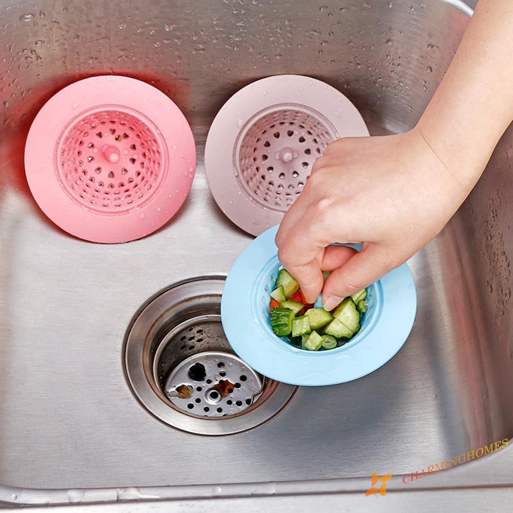 Round Silicone Sink Strainer Filter Water Stopper Floor Drain Hair Catcher