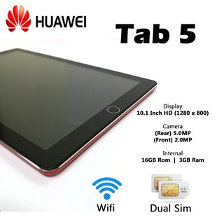 (Ready Stock In Malaysia)  HUAWEI TAB 5 10.1 HD TABLET IMPORT SET 3+16GB CAN SIM