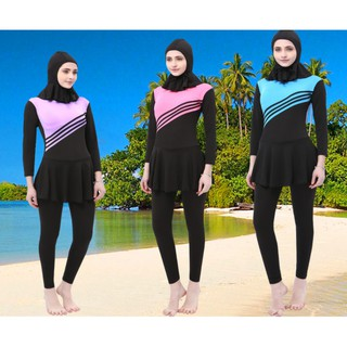 Muslim Women Swimwear Hijab Swimwear Full Cover Swimming Suits Jumpsuits
