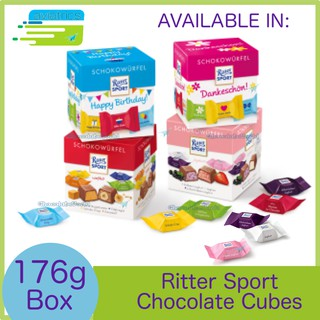 Ritter Sport Choco Cubes Box Variety 176g (Made in Germany)