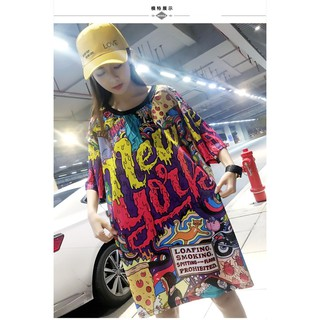Myanmar Fat Mm Series M - 4xl Women's Clothing 19 Summer New Cartoon Print