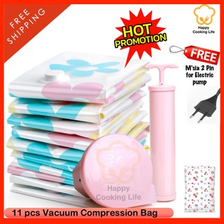 Promo 11pcs Top Quality Travel Storage Resealable Vacuum Thick compression Bag travel 收纳袋