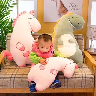 Creative new soft cartoon appease doll pillow down cotton unicorn plush toy cute pig dinosaur doll