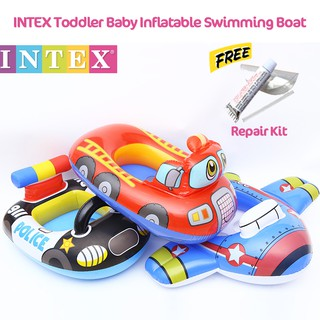 READY STOCK INTEX Toddler Baby Inflatable Swimming Ring Children Kids Seat Float Boat / Pelampung Baby