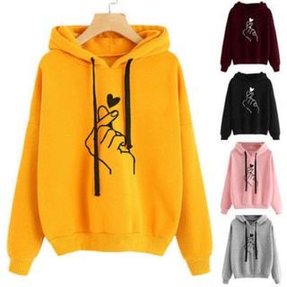 【Ready Stock】women's Casual Long Sleeve Hooded Pullover Hoodie