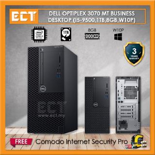 Dell Optiplex 3070 MT Mini Tower Business Desktop (i5-9500 4.40Ghz,1TB,8GB,W10P)