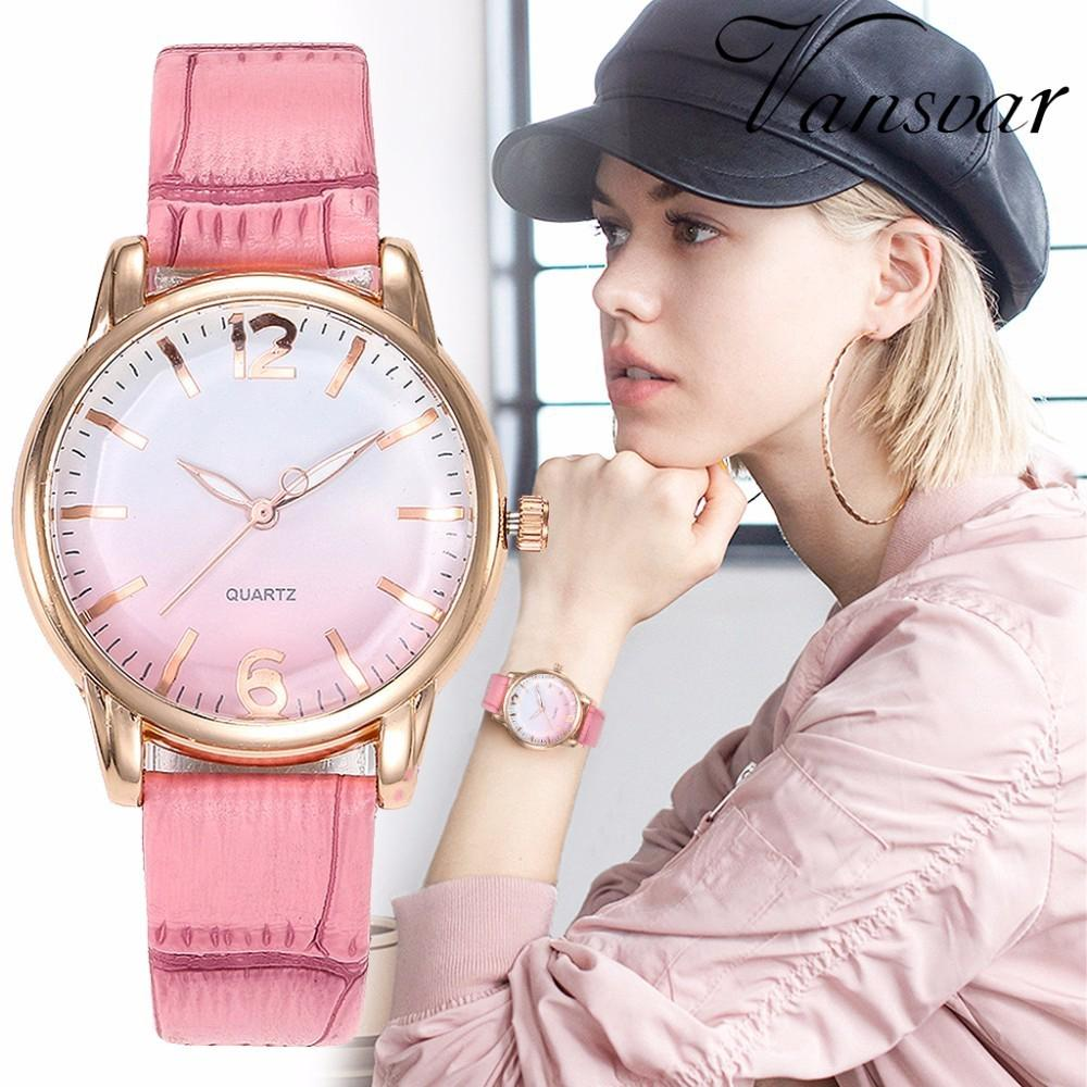 【Ready Stock】Women Watch Luxury Rose Gold Leather Strap Wristwatch