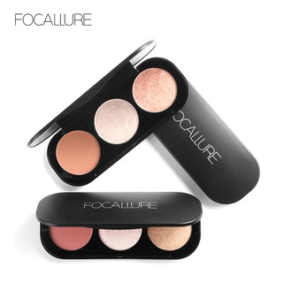 FOCALLURE Blush & Highlighter Palette - 3 Colours