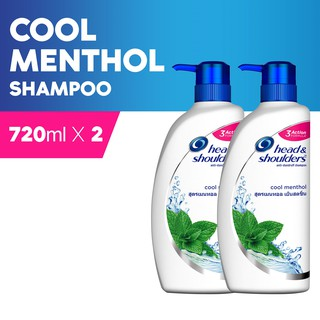 Head & Shoulders Cool Menthol Anti Dandruff Shampoo (720ml x 2 Packs)