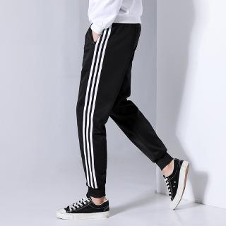 2019 New Men's Loose-legged Three-bar Trendy Sports Pants
