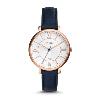 *Ready Stock *Original Fossil Watch Jacqueline Navy Leather Watch 36mm ES3843