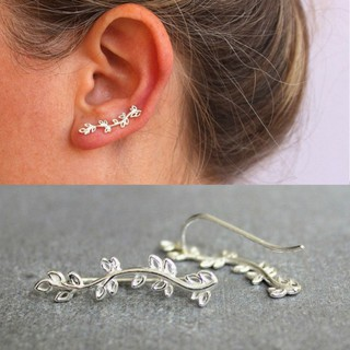 New Leaves Branch Earring Silver Alloy Brincos Women Accessories