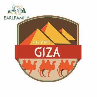 EARLFAMILY 13x13cm  Giza Egypt Car Stickers Vinyl JDM Waterproof Decal Car Accessories Graphics Cartoon