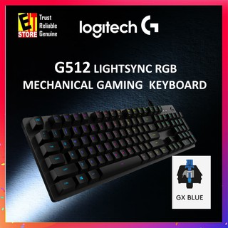 LOGITECH G512 CARBON RGB MECHANICAL GAMING KEYBOARD (GX BLUE SWITCH 920-008949)