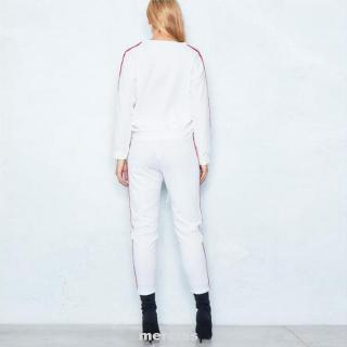 Women Shopping Soft Trousers Casual Sports Jacket Kit