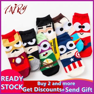 Hot SaleSuperhero Cartoon Marvel Man Women Unisex One Size Adults Socks Ankle Cotton Socks Sports Socks