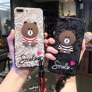 Oppo Neo 7 A33 Neo 9 A37 F1S A59 R9S F5 Teddy Bear Case With Strap