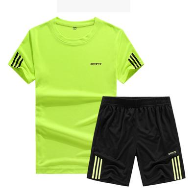 Summer Short Sleeve T-shirt Sports Cool Men's Suit