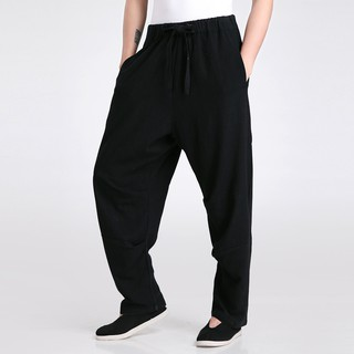 Shanghai Story Blend Linen Kung Fu Pants Men Tai Chi Trousers Martial Arts