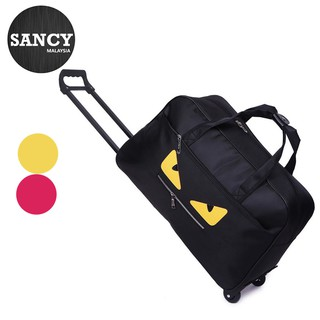 READY STOCK  SANCY Korean Waterproof Monster Eye Trolley Travel Bag Large Capacity Duffel Duffle Bag