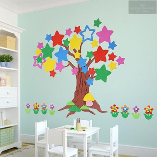 3D three-dimensional foam wall sticker class culture classroom layout primary school blackboard news