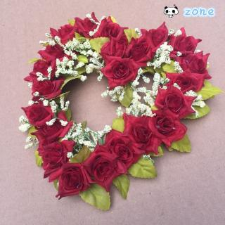 Family Wedding Site Decoration Artificial Heart-shaped Flower Garland Zone