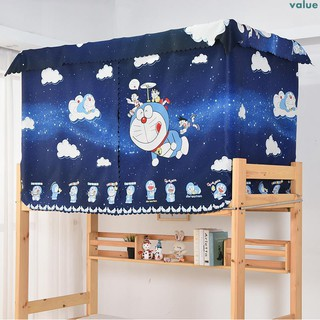 Doraemon student dormitory bed curtain shade cloth artifact bedroom upstairs shop anime bed bed curtain curtai
