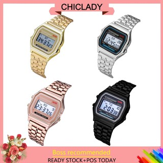 【RM9 free ship】 LED Digital Waterproof Quartz Wrist Watch Women Men Steel