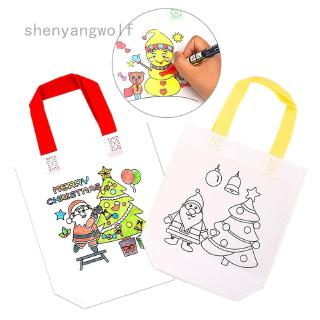 DIY Non-woven Graffiti Bag Antistress Puzzles Educational Toy For Children Kindergarten Hand Painting Materials Gift