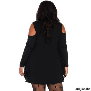 Spider web Plus Size Jersey Tunic Dress