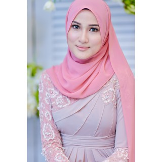 Ready Stok Long Shawl Keknis Heavy chiffon