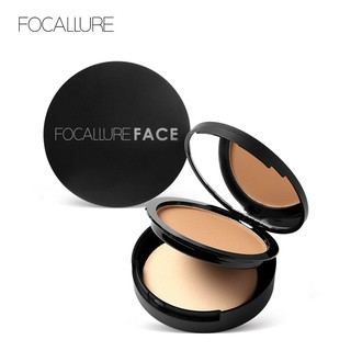 FOCALLURE 3 Colors Pressed Powder Cake Soft with Sponge