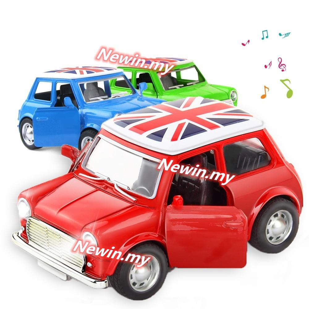 Mini BMW Alloy Diecast Model Car Pull Back Vehicles Toys Flash Light And Music