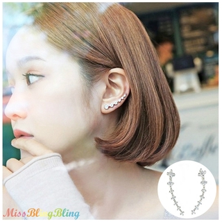 🔥ReadyStock🔥Women Crystal Ear Cuffs Hoop Earrings Gift Fashion Accessories