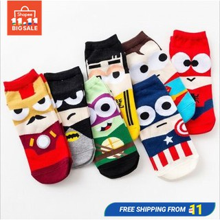 superhero marvel Men women unisex adults socks Ankle Cotton Socks Sports Socks