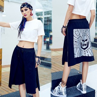 spot european station summer new casual layered-look five wide leg shorts