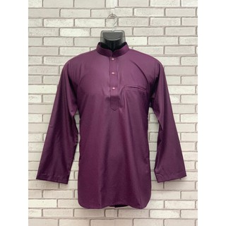 {NEW ITEM} Kurta Lelaki Dewasa Long Sleeve with Collar Hidden Pocket (Ready Stock)