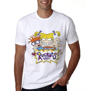 New Cartoon Rugrats Men T Shirt Summer Print Rugrats Tshirt Casual Cool Rugrats