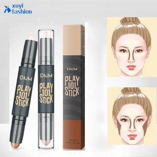 Double Head 3D Highlighter Concealer Stick Face  Contour Pen Women Makeup Beauty Travel Gift