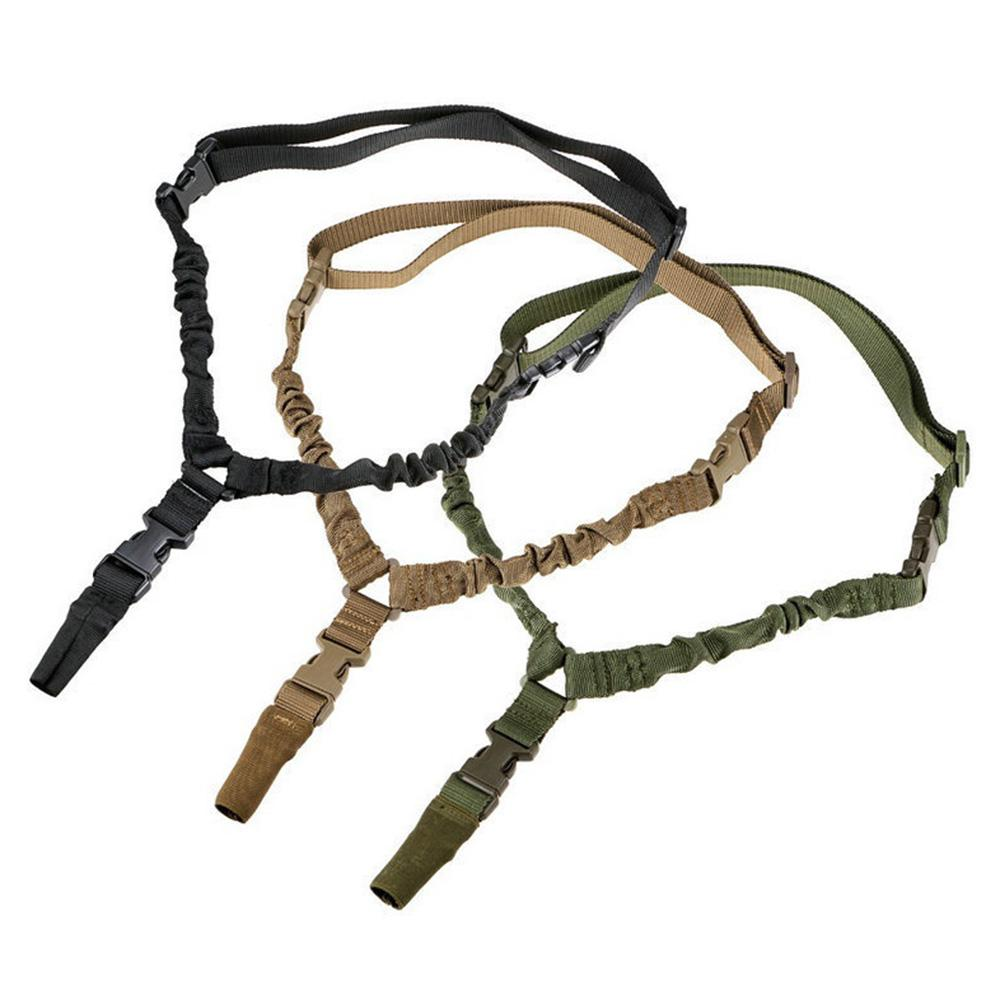 Multi-function Single Point Sling Tactical Bungee Rifle Quick Release Belt