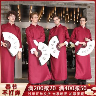 Rental 2019 new Zhongshan suit wedding dress groomsmen brothers robes gowns Republic of China costume cross talk Tang co