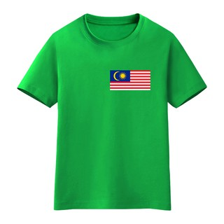 ┅Pure cotton pupils can custom make boys and girls with short sleeve T-shirt a Malaysian flag performances clothes