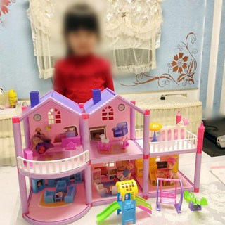 Handmade plastic LOL Dollhouse Castle DIY House Toy Miniature Dollhouse Birthday Gifts Doll Girl Villa house Toys