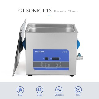 GTSONIC R13 Ultrasonic Cleaner 13L 300W 40kHz Digital Display Heating Degas Ultrasonic Bath with Basket for Bicycle Chai