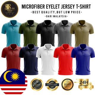 888.CO MICROFIBER POLO COLAR T-SHIRT  (FAST-DRY/COOL-MAX) ANTI-BACTERIA MIX COLOR
